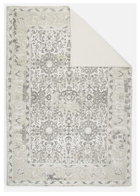 Rug Antique Printed - Grey