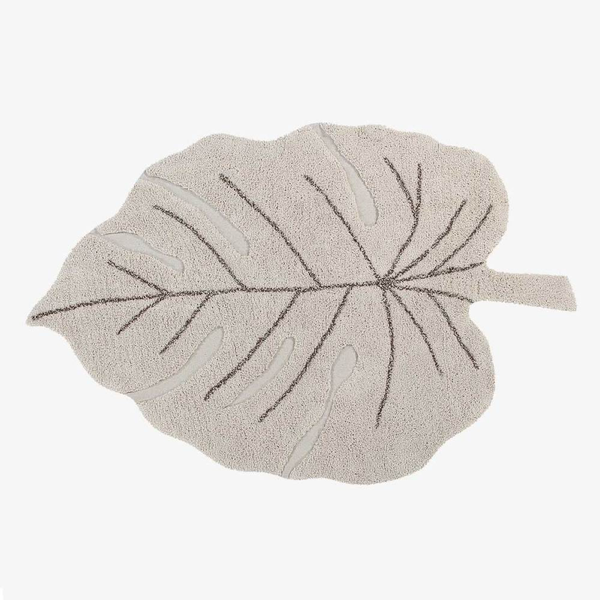 Monstera Leaf Rug – Natural