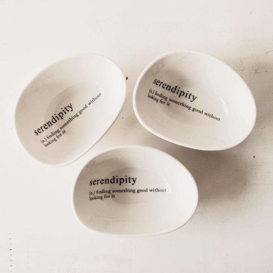 SERENDIPITY PEBBLE BOWL SET OF 3