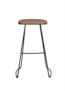 TEAK BAR STOOL ALINE