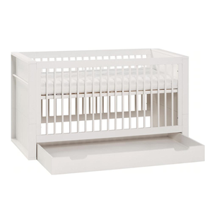 MILK CONVERTIBLE COT BED WITH STORAGE DRAWER