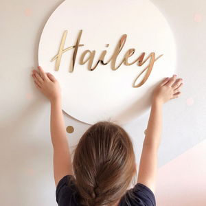 Round Name Plaque - Acrylic Letters