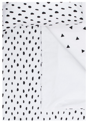 Smudge Dot Bedding – Black