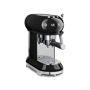 SMEG 50S RETRO STYLE BLACK ESPRESSO COFFEE MACHINE