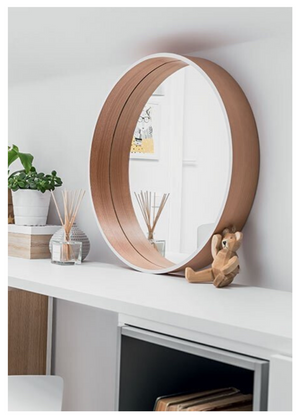 SCANDI ROUND WALL MIRROR - BLACK