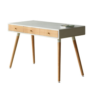 Desk with MDF Duco finish top with 3 draws