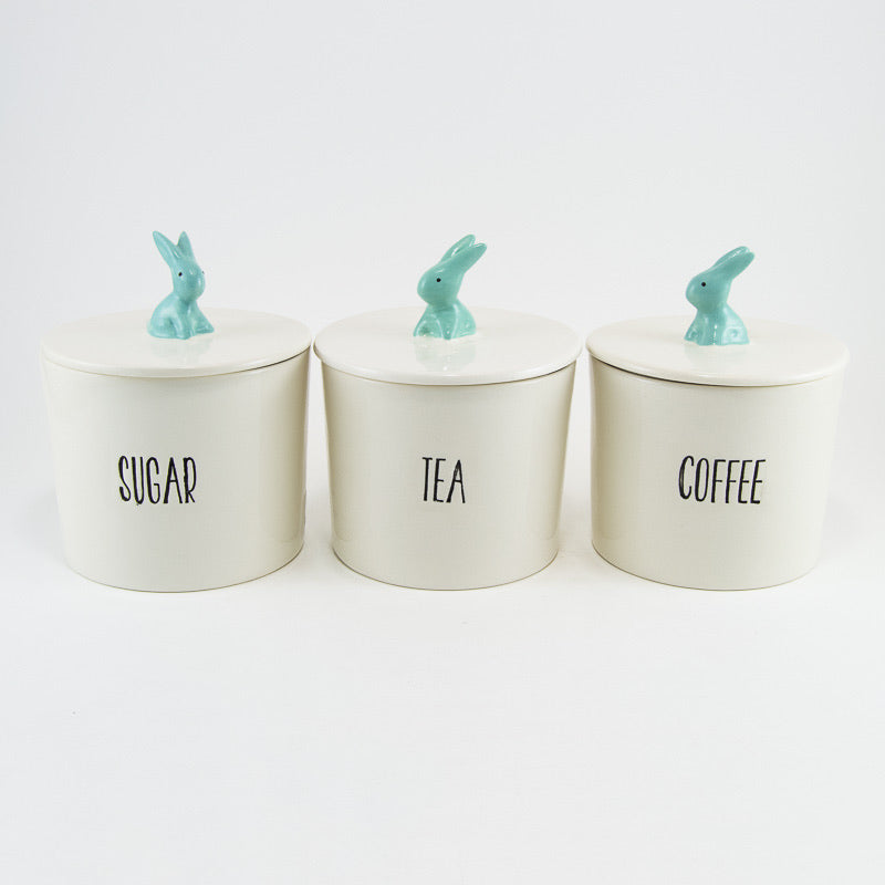 Canister Set of 3 Grey