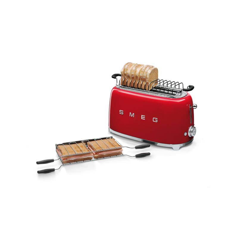 SMEG 50'S RETRO STYLE FIERY RED 4-SLICE TOASTER