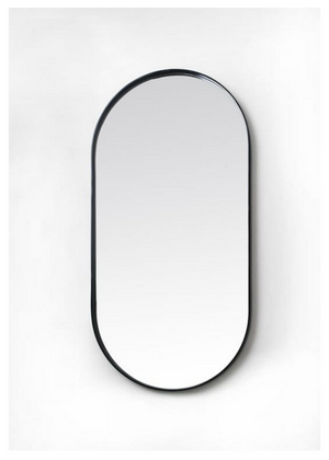 Deep Frame Pod Mirror – Black