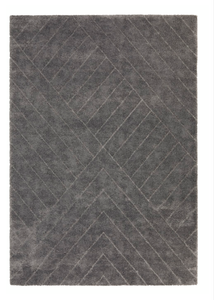 Rug Dark Grey Linear Pattern