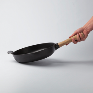 Cast Iron Frying Pan Black 26cm -RON Collection