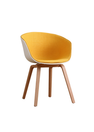 Chair Half Upholstery Yellow