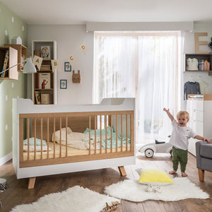 4You Cot Bed– White & Oak