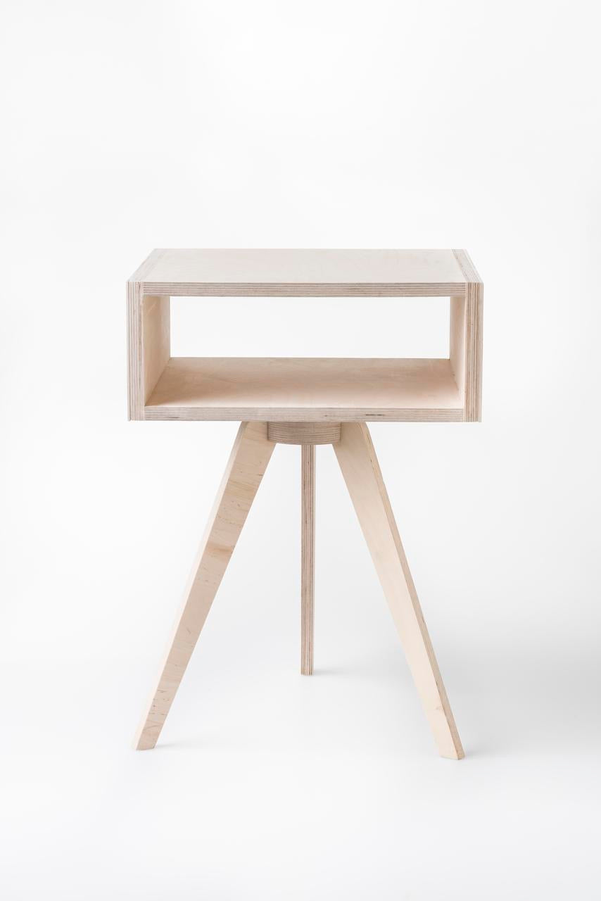 Hexa Bedside Table – White