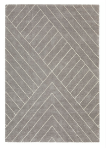 Rug Light Grey Linear Pattern