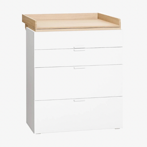 4YOU COMPACTUM/DRESSER - WHITE & OAK