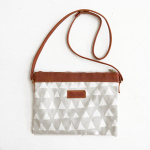 Grey Triangle Sling Bag