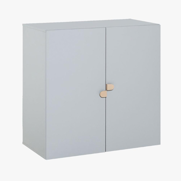 STIGE 2 DOOR HIGH CABINET - GREY