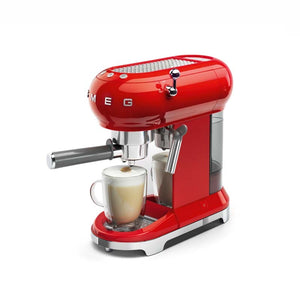 SMEG 50S RETRO STYLE FIERY RED ESPRESSO COFFEE MACHINE