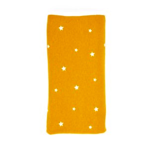 Stretch Cotton Blanket – Mustard With White Stars