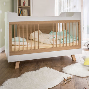 4YOU COT BED – WHITE & OAK