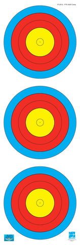 World Archery Federation (WA) - 3x20, Scheibenauflage - est-bogensport.de