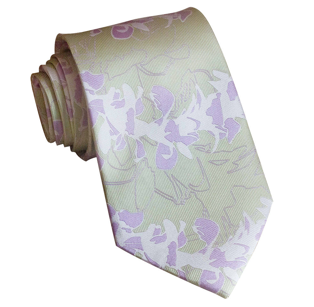 Orchid Lei Executive Silk Necktie