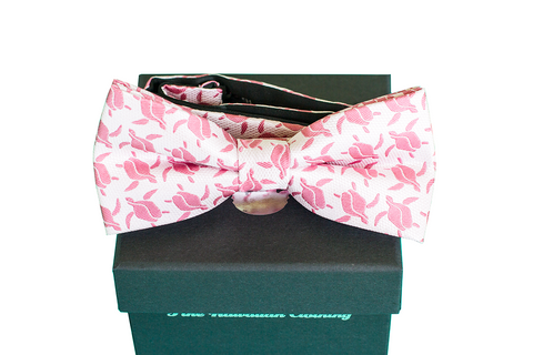 Pineapple Vice Navy/Pink Silk Self-tie Bowtie