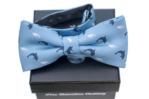 Nai'a Dark Blue Silk Self-tie Bowtie