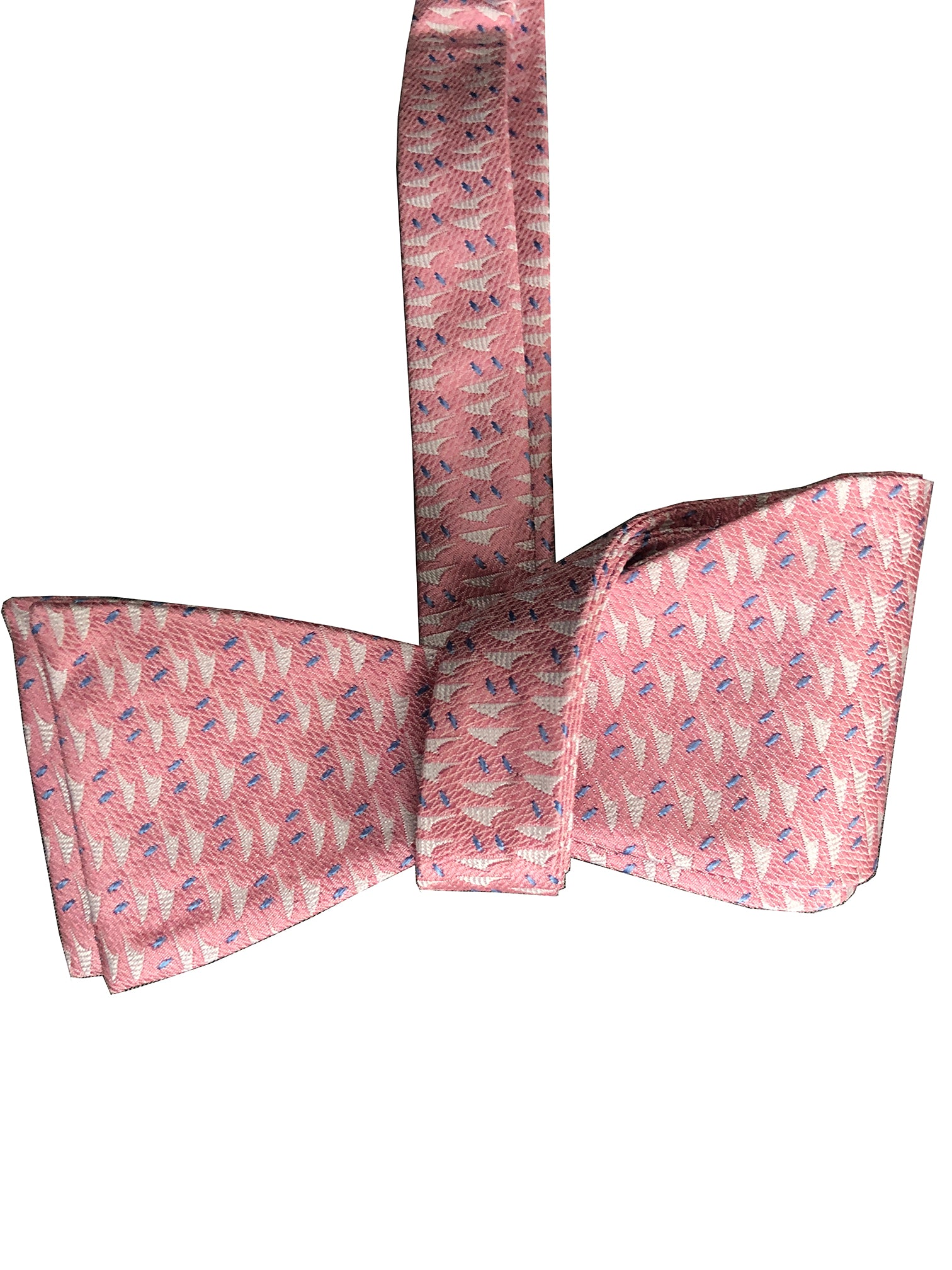 Hawaiian Voyage Salmon Silk Self-tie Bowtie