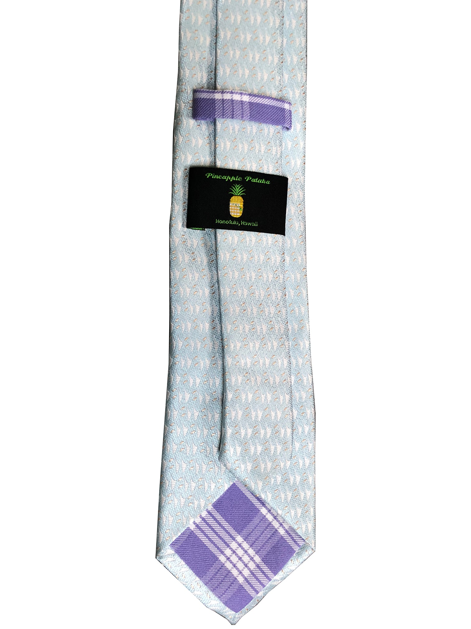 Hawaiian Voyage Powder Blue Modern Necktie