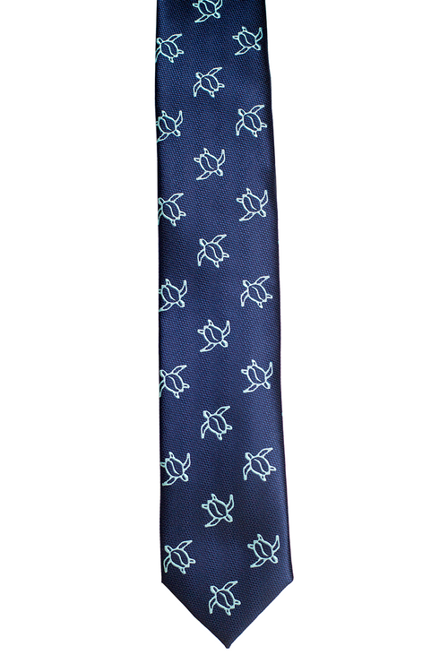 Honu Big Blue Slim Necktie