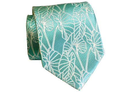 Bird of Paradise Teal Modern Necktie