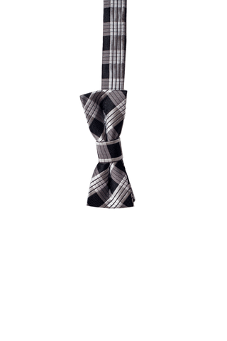 Palaka Black Kids Zipper Necktie