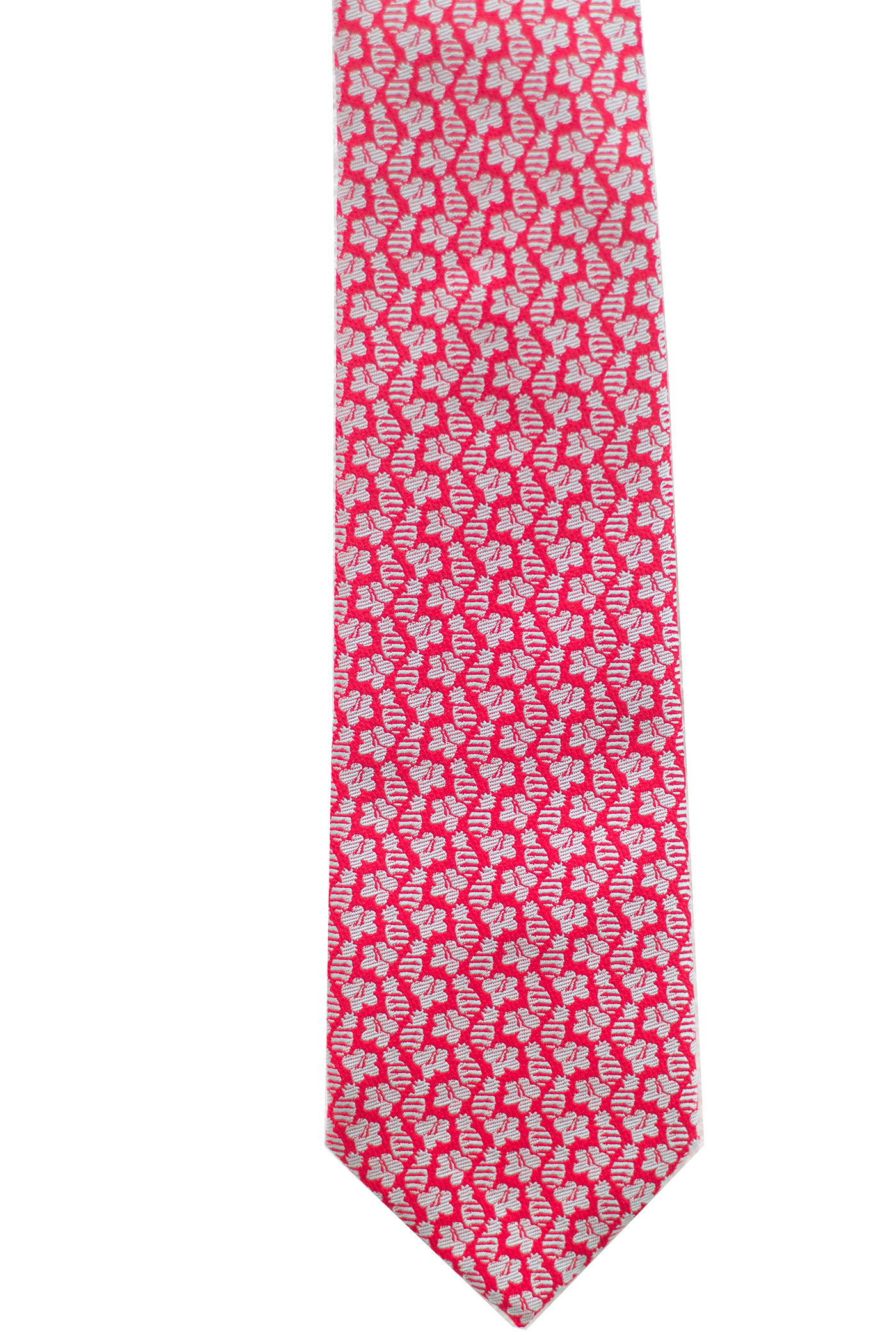 Pineapple Hibiscus Red Modern Necktie
