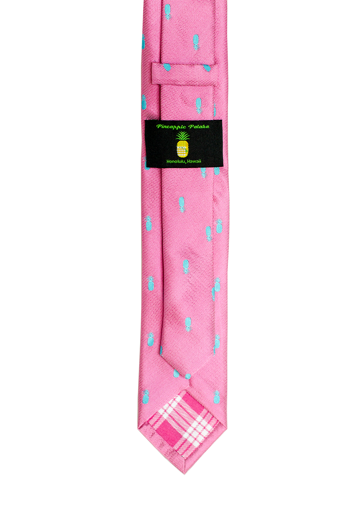 Pineapple Vice Pink/Teal Slim Necktie