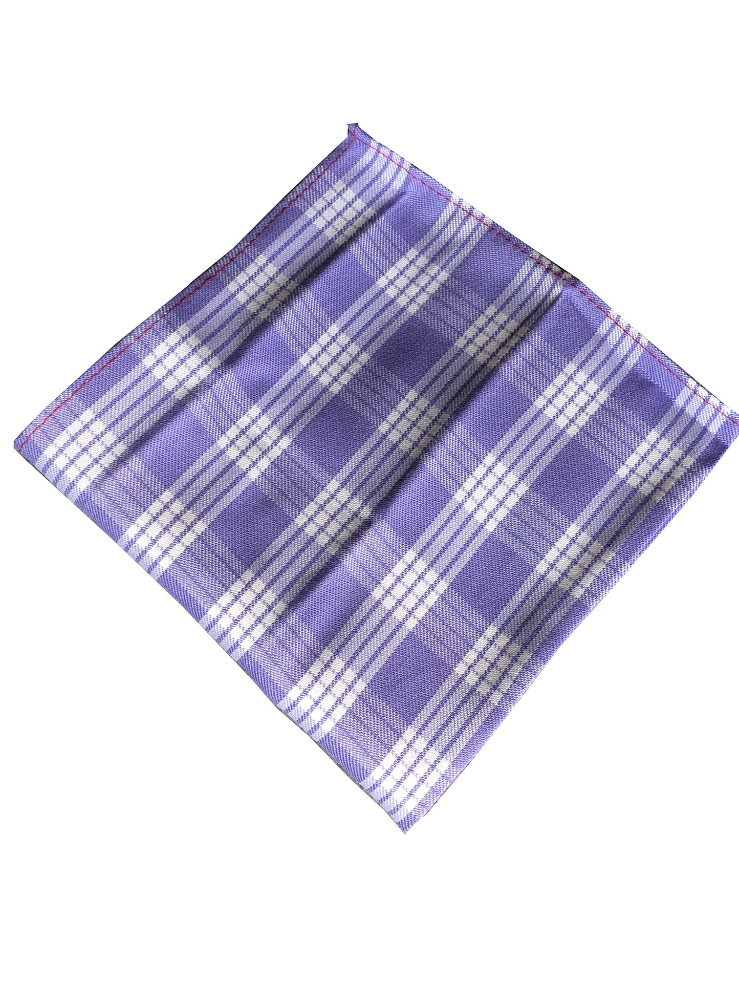 Lavender Palaka Pocket Square