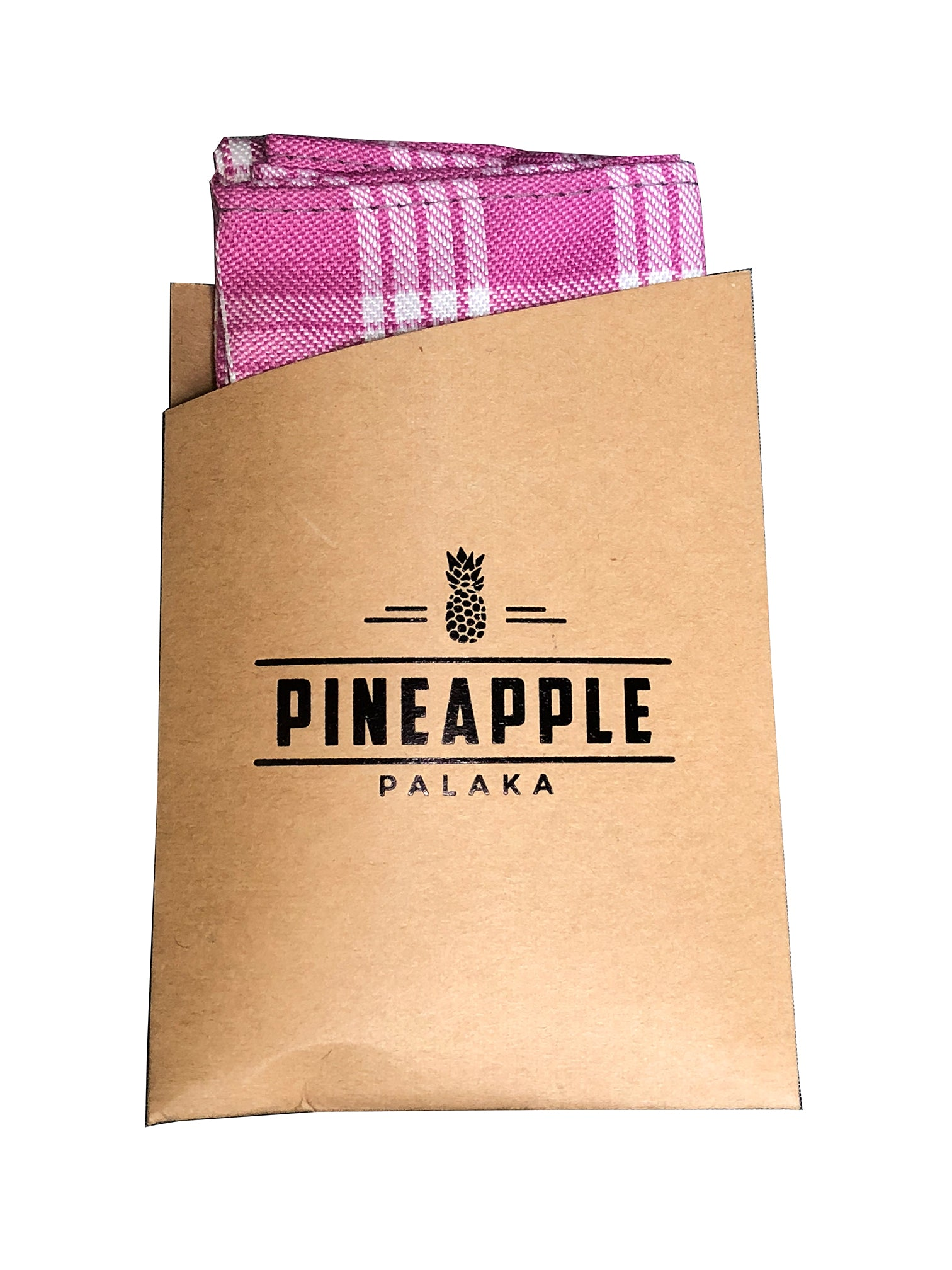 Pink Palaka Pocket Square