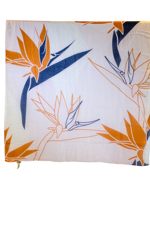 Bird of Paradise Light Square Women's Scarf