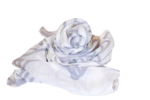 Mai'a White/Grey Women's Scarf