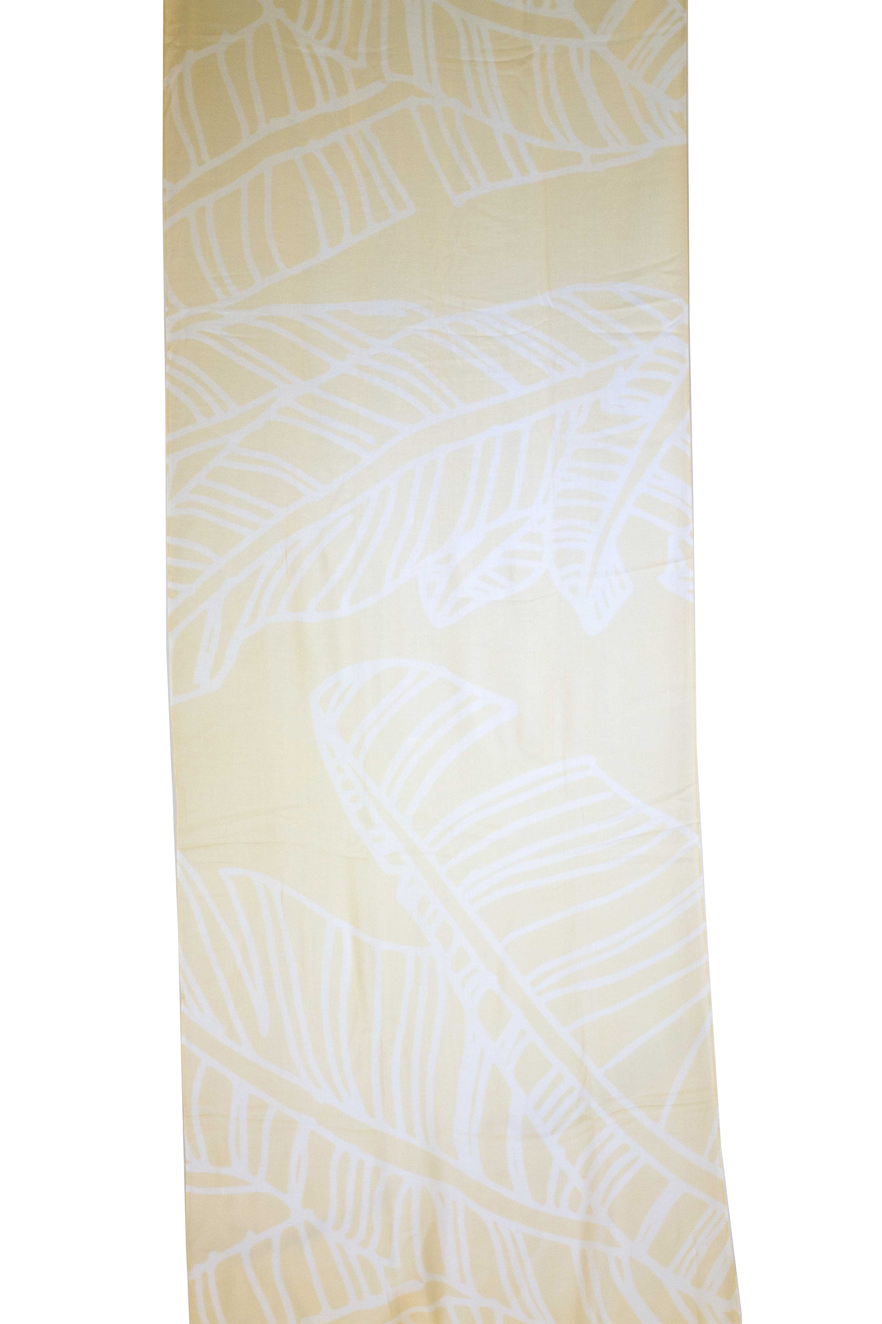 Mai'a White/Pineapple Yellow Women's Scarf