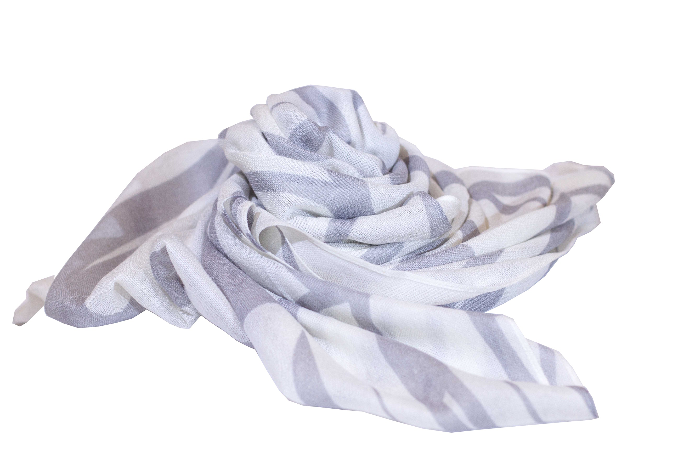 Monstera White/Grey Women's Scarf
