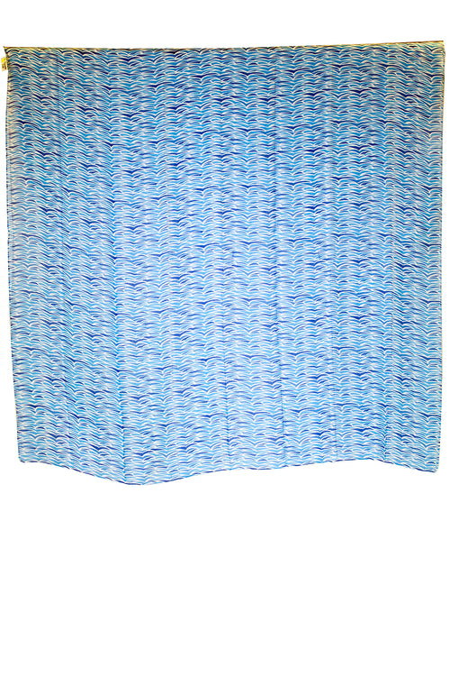 Nalu Blue Square Women's Scarf