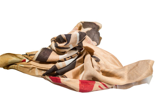 Ti Leaf Brown Women's Scarf
