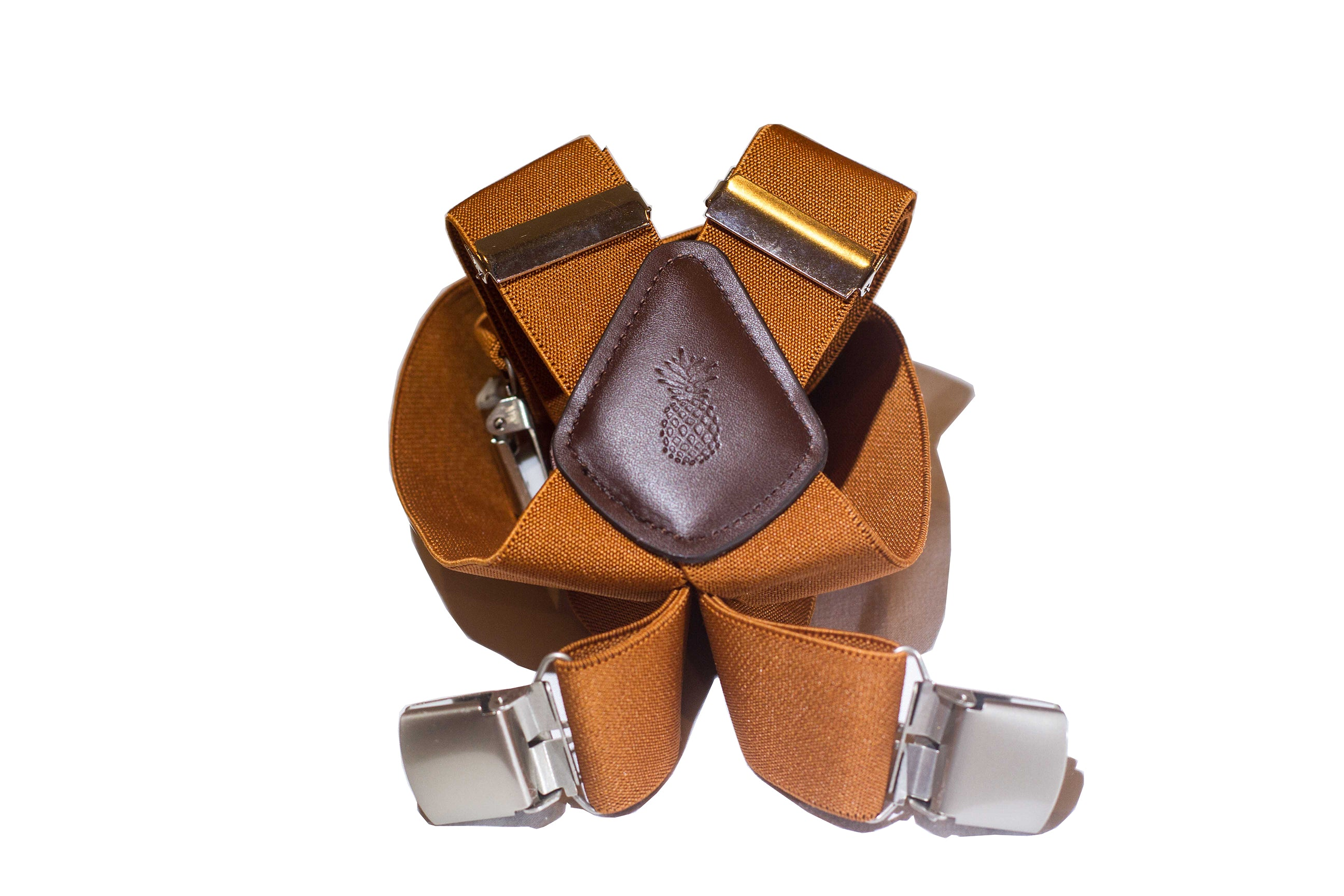 Pineapple Palaka Chocolate Suspenders