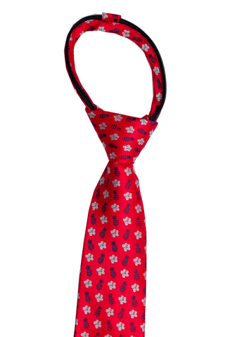 Honu Big Blue Kids Zipper Necktie