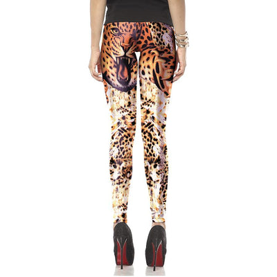 3D Leopard Animal Leggings