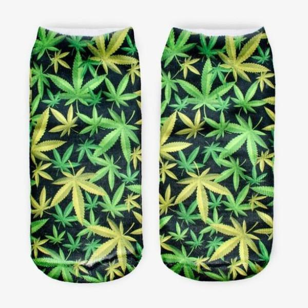 3D Marijuana Ankle Socks