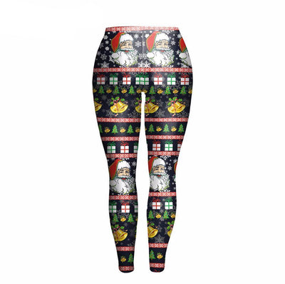 Bells Santa Claus Christmas Leggings