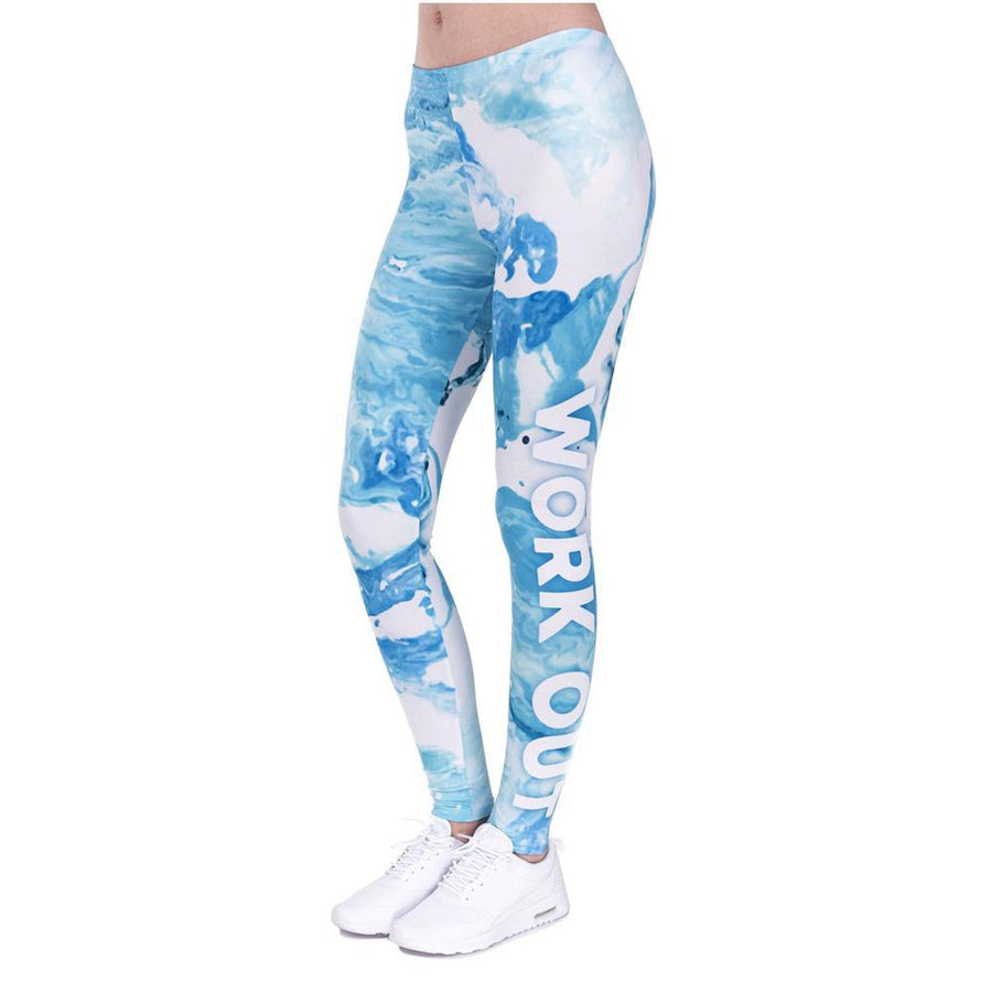 Blue Marble Workout Leggings